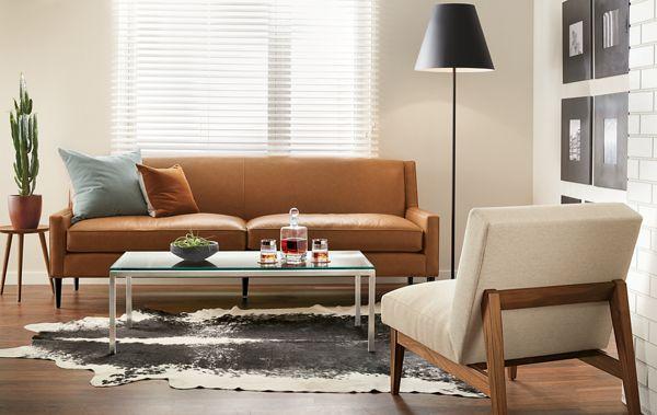 Braden Leather Sofa Room Modern Living Room Furniture Room Board