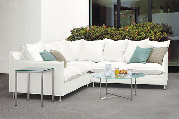 Room and Board – Brisbane Outdoor Sectional in White