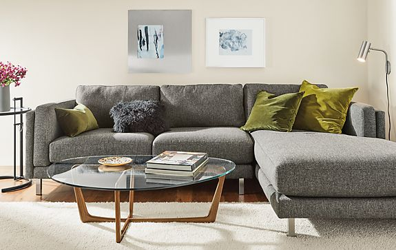 Cade Sofa with Chaise Living Room - Modern Living Room Furniture ...