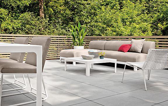 Crescent Patio Modern Outdoor Furniture Room Board