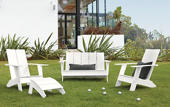 Emmet Sofa And Chair Collection In White Modern Outdoor Furniture Room Board