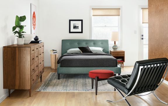 Hoffman Bed with Grove Dresser Modern Bedroom Furniture