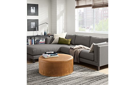 Holden Sofa with Chaise in Kellen Charcoal - Modern Living Room ...