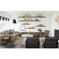 Keaton Media Cabinet With Jasper Sofa Modern Living Room