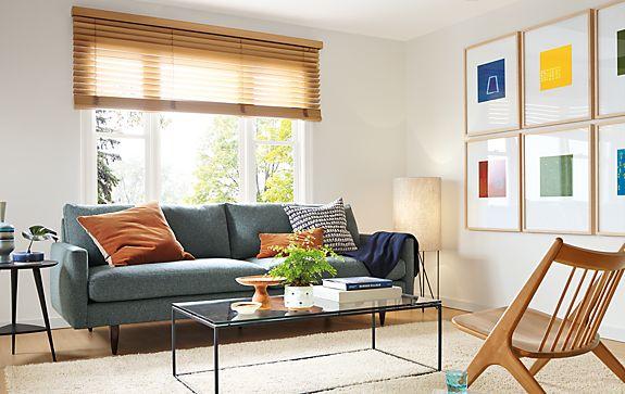 Jasper Sofa With Oskar Lounge Chair Modern Living Room