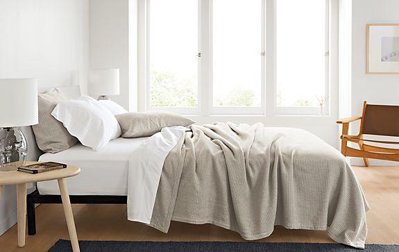 Mara ivory grey bedding percale white sheet set modern for Mara home decorations