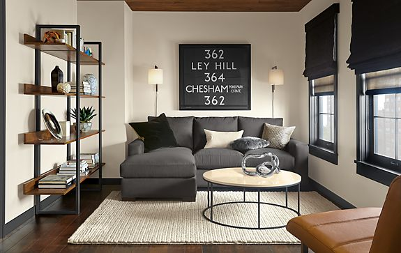 Metro Sofa with Reversible Chaise Room - Modern Living Room ...