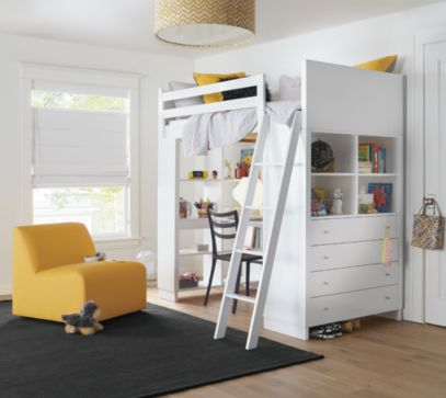 Desk and cascade chair - Moda Loft Bed With Desk Amp Dresser Kids Room Amp Board