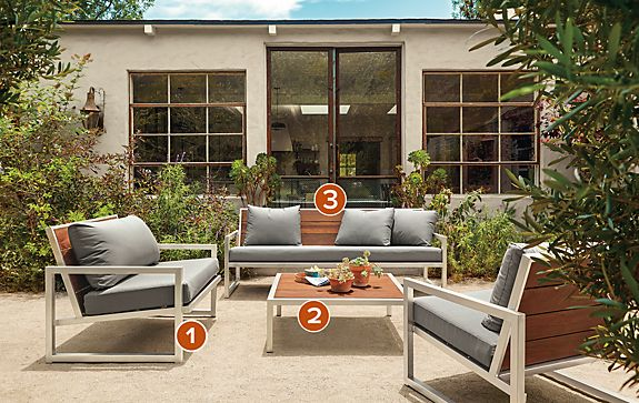 Montego In Stainless Steel Modern Outdoor Furniture Room Board