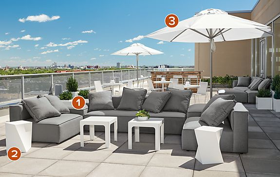 Oasis Modular Outdoor Sectional Modern Outdoor Furniture