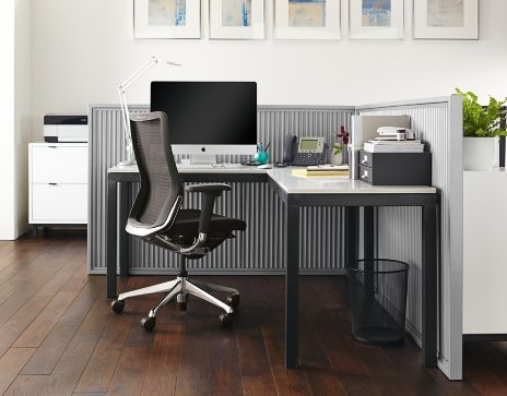 Parsons L Shaped Desk Office Space Modern Office