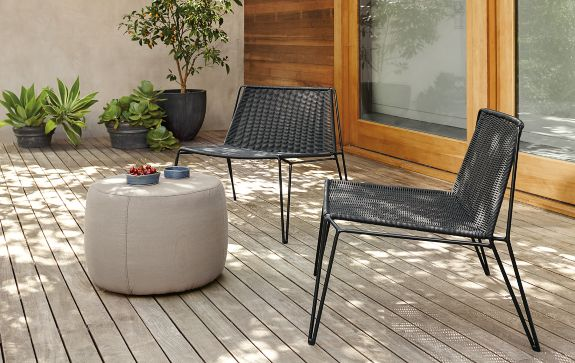 Penelope Lounge Chairs in Black Modern Outdoor Furniture