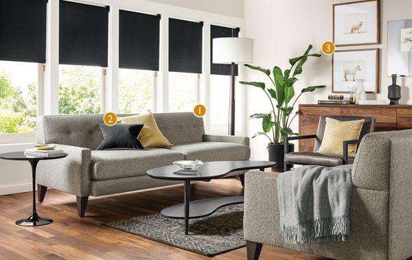 Custom Percy Sofa Living Room Modern Custom Furniture Room Board