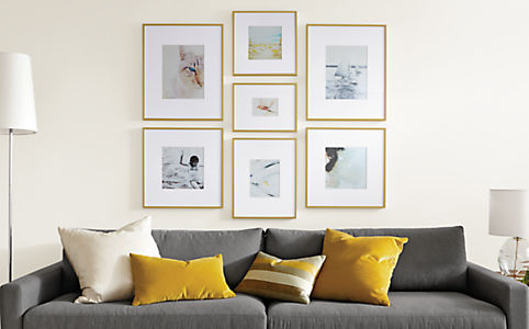 Profile modern picture frames in gold modern picture for 8x8 living room ideas