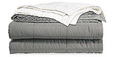 Quilted Sateen Coverlet & Shams
