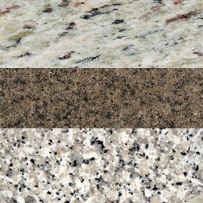 Assorted polished granite