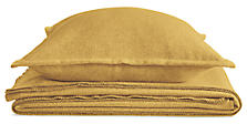 Washable Wool Blanket & Sham in Mustard