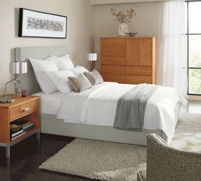 wyatt bed with high headboard  modern bedroom furniture  room, Headboard designs