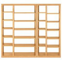 Woodwind 72h Open Back Wall Units Modern Bookcases