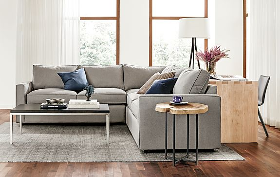 york three piece sectional living room modern living. Black Bedroom Furniture Sets. Home Design Ideas
