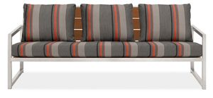 "Montego 80"" Sofa Cushions in Sunbrella Sol Orange"