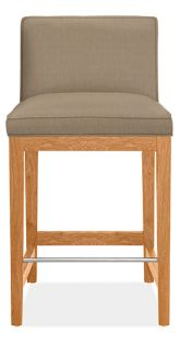 Ansel Low-Back Counter Stool in Dustin Otter with Cherry Legs