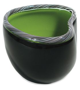 Fava Bowl in Black/Green