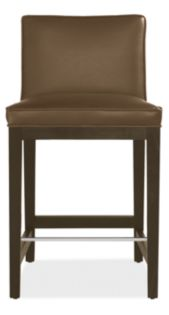 Ansel Low-Back Counter Stool in Lil Basil Leather