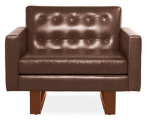 Wells Chair in Ambassador Fudge Leather