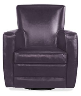 Elliot Swivel Chair in Bison Plum Leather