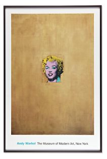 Poster Warhol, Gold Marilyn Monroe Framed in Gunmetal