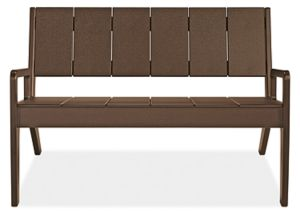 "Harbor 44"" Sofa in Brown"