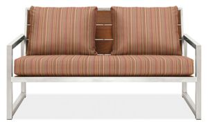 "Montego 57"" Sofa Cushions in Outdura Sunset Spice"