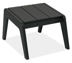 "Harbor 17.5x22"" Ottoman in Black"