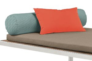 Montego Sun Bed Round Bolster in Sunbrella Canvas Spa