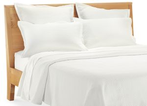 Linea King Sham in White