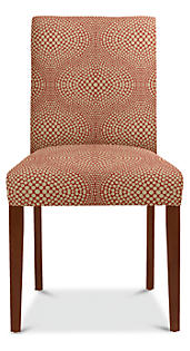 Peyton Side Chair in Mirror Crimson