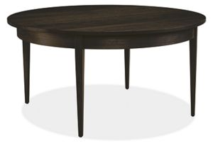 Adams 36r 18h Cocktail Table in Maple with Charcoal Stain
