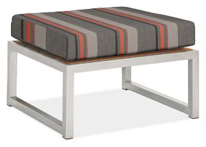 Montego Ottoman Cushion in Sunbrella Sol Orange