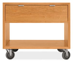 Copenhagen 29w 25h Nightstand in Cherry with Casters
