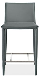 Enzo Counter Stool in Grey Leather