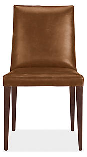Ava High-Back Chair in Leisure Whiskey Leather