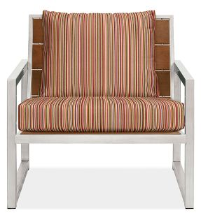 "Montego 32"" Lounge Chair Cushions in Outdura Sunset Spice"