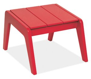 "Harbor 17.5x22"" Ottoman in Red"
