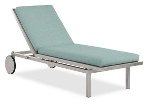 Montego Chaise Cushion in Sunbrella Canvas Spa