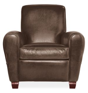 Emile Chair in Brighton Chocolate Leather