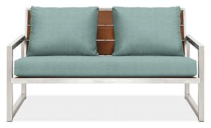 "Montego 57"" Sofa Cushions in Sunbrella Canvas Spa"