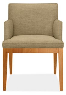 Ansel Arm Chair in Titan Tan with Cherry Legs
