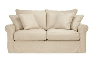 "Kendall 76"" Full Sleeper Slipcover in Danish Linen"