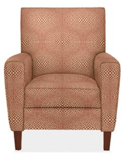Harper Recliner in Mirror Crimson